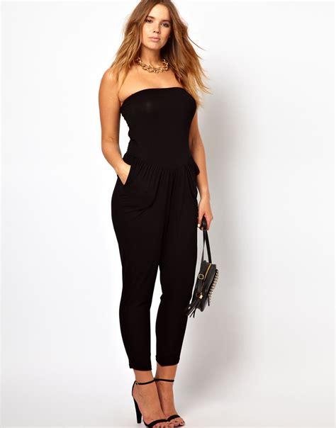 Jumpsuit Big Size s s new strapless jumpsuits 2015 6xl black jumpsuit large big size summer