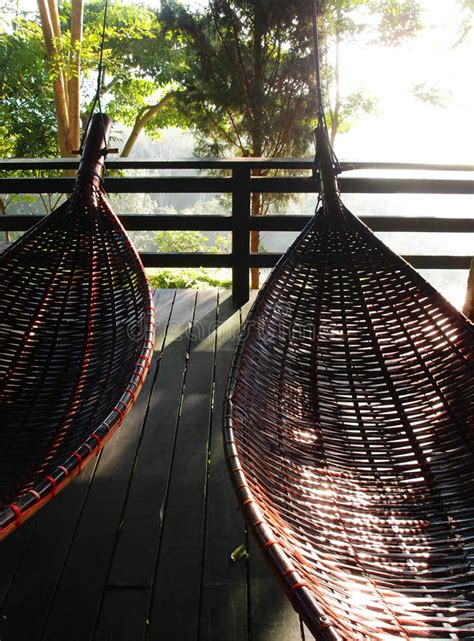 thai swing thai hammocks swing traditional bamboo rattan stock