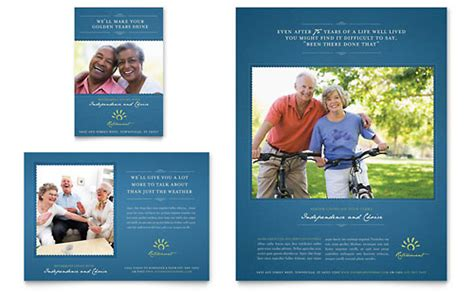 Elder Care Nursing Home Flyer Ad Template Design Nursing Flyer Templates