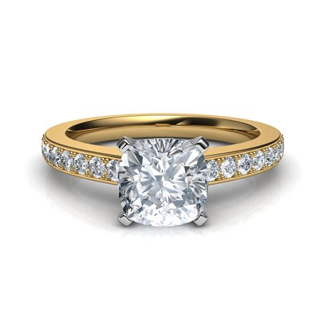 Novo Cushion Cut Diamond Engagement Ring
