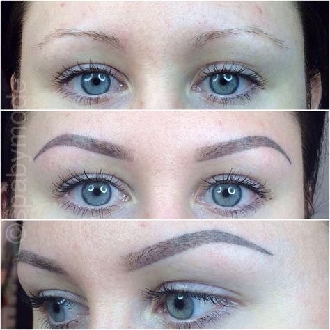 eyebrow soft touch permanent make up before top and 8