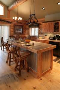 rustic kitchen island ideas love the floors and tin on the island future home oh