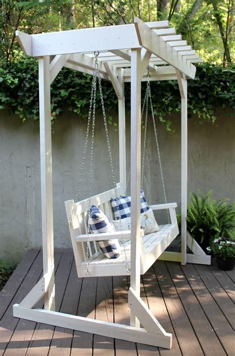 garden swing diy 1000 ideas about pergola plans on pinterest free