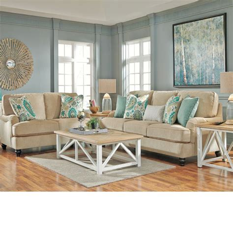 coastal living room design coastal living room ideas lochian sofa by ashley