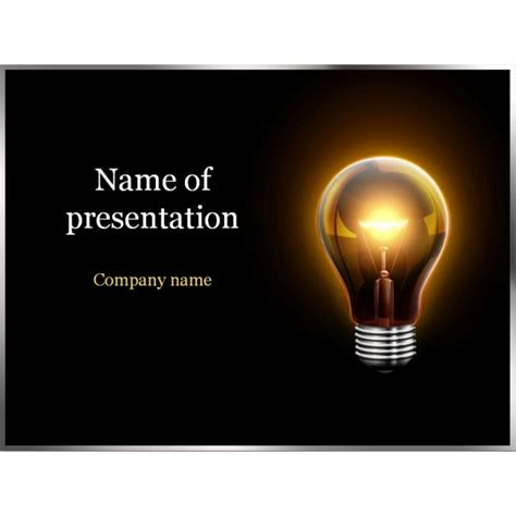 ppt templates free download electrical electric light powerpoint template background for