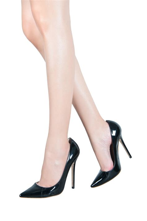 black pointed toe high heels shoes patent leather black pointed toe high heel