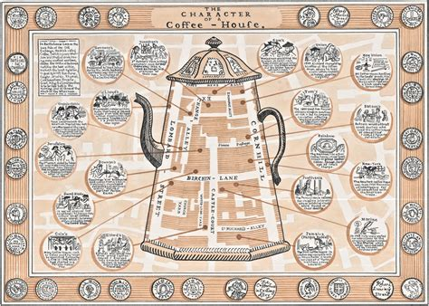 Adam Dant?s Map Of The Coffee Houses   Spitalfields Life