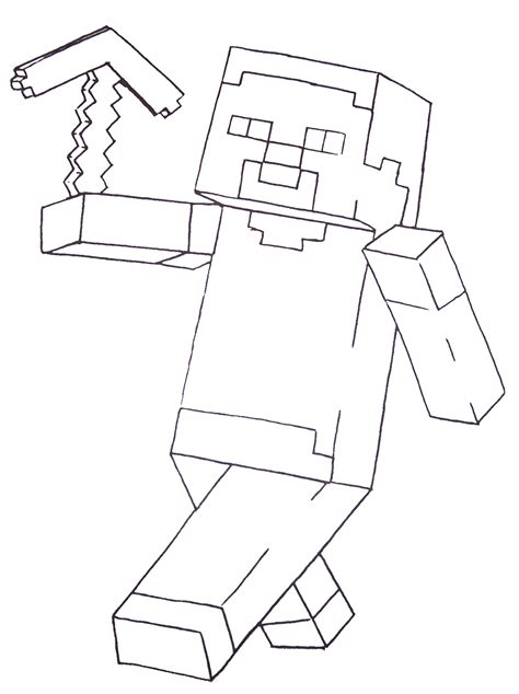 free coloring pages of minecraft activities