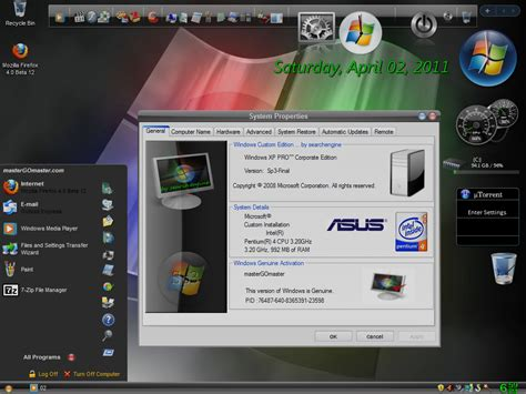 themes for gold xp windows xp pro sp3 gold cobra edition eng 2011 activated