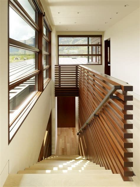 interior design with horizontal lines at peaks view