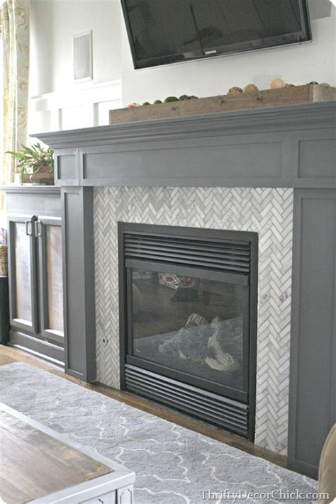 tile around fireplace on subway tile fireplace - Tiling Around A Fireplace