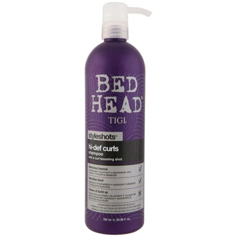bed head reviews tigi bed head hi def curls shoo styleshots 750ml