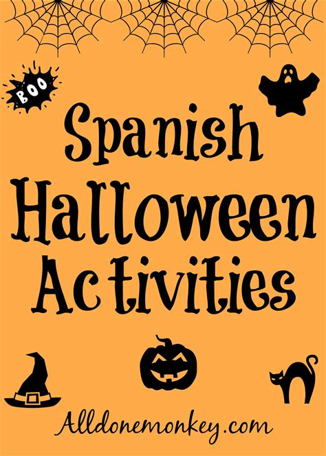 halloween coloring pages in spanish spanish halloween activities all done monkey