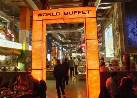 entrance to the buffet of food from around the world
