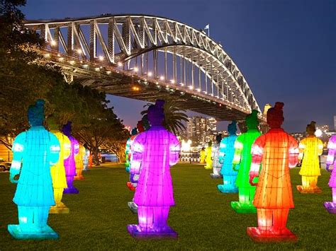 new year lantern festival 2015 harbour lanterns of the terracotta warriors to light up sydney s