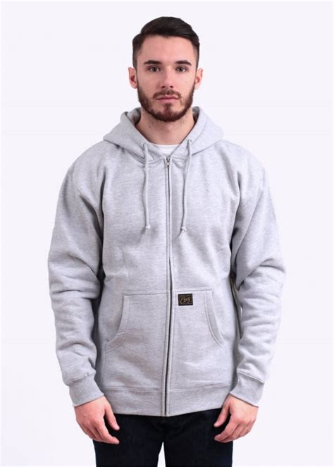 Hoodiezipper Obey obey jones zip hoody grey