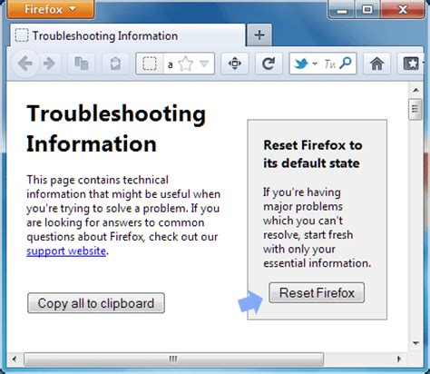 firefox reset themes how to reset firefox to default state to fix problems