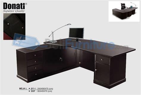 Meja Kantor Bentuk L donati dt1 tanpa meja sing meja kantor murah