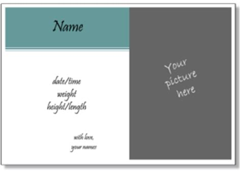 birth announcement templates to print online with your