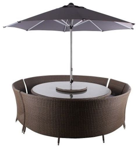 curved patio furniture leisuregrow torino curved bench furniture set modern outdoor dining sets by garden xl