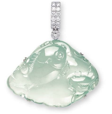 carved jadeite pendant the colourless jadeite carving of