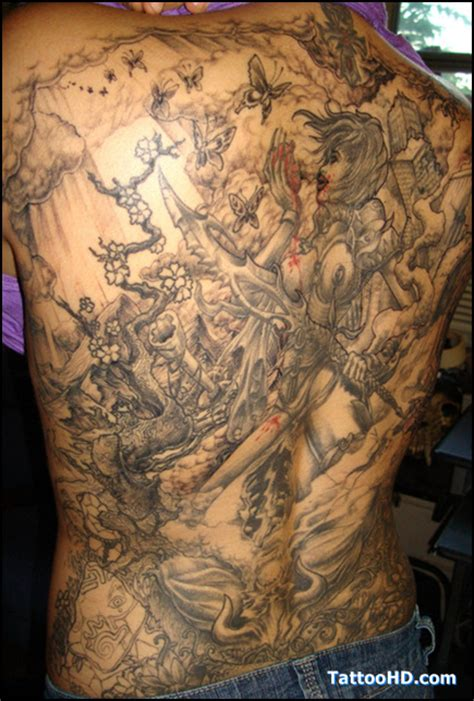 dragon s gate tattoo collection of 25 warrior on back