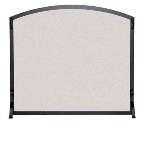 Single Panel Fireplace Screens by Pictured Here Is The Wrought Iron Single Panel Arched Fireplace Screen With Matte Black Finish