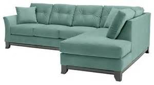 marco 2pc sectional sofa sixties blue chaise on left