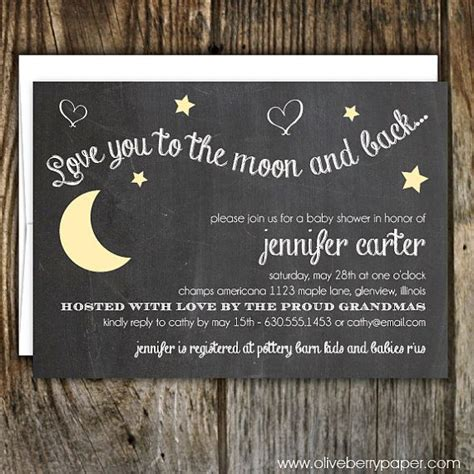 Moon And Baby Shower Ideas by You To The Moon And Back Baby Shower Invitation