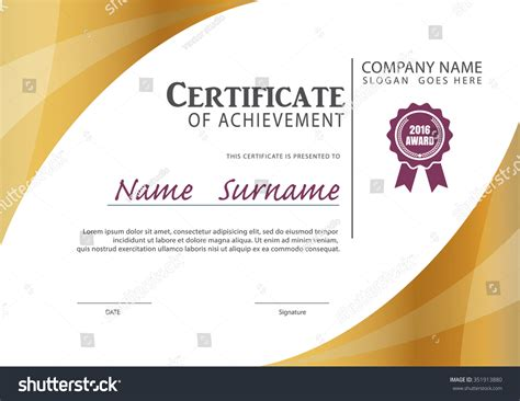 custom certification card size template certificate templatediploma layouta4 size vector stock