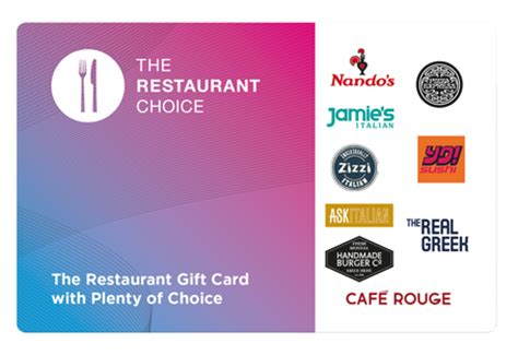 Where To Buy Restaurant Gift Cards - restaurant vouchers gift cards the restaurant choice