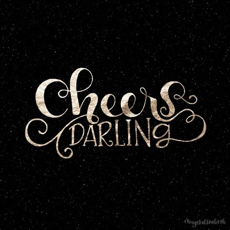 cheers darling happy new year a lettering tutorial