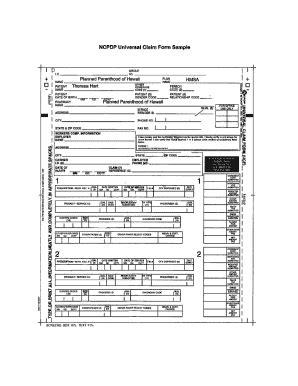 universal claim form sle fill online printable