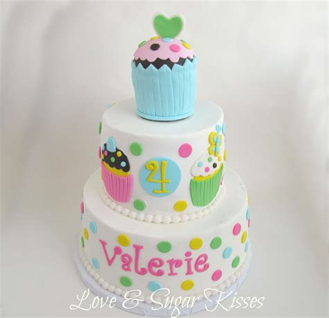 cupcake birthday cake sugar kisses cupcake themed birthday cake