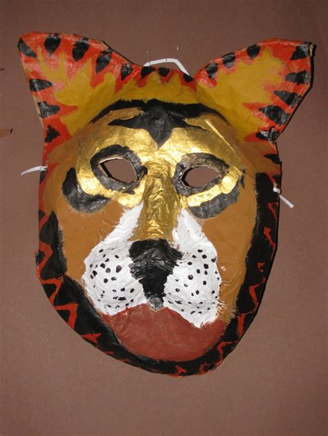 How To Make A Paper Mache Tiger - 42 best images about mask for students on