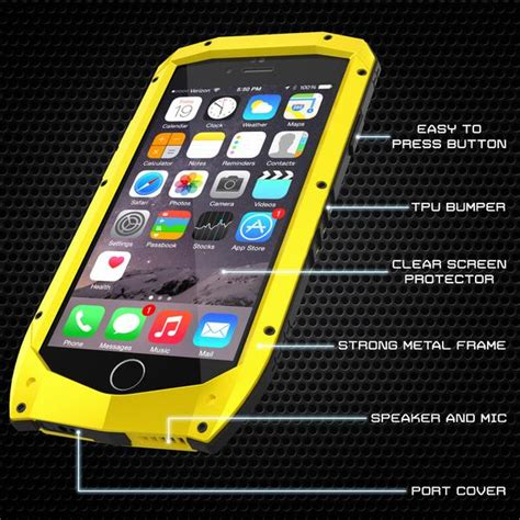 iphone  case punkcase metallic pro neon series cover  attached