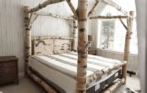 Log Canopy Bed Birch Log Canopy Bed Stauffer Woodworking