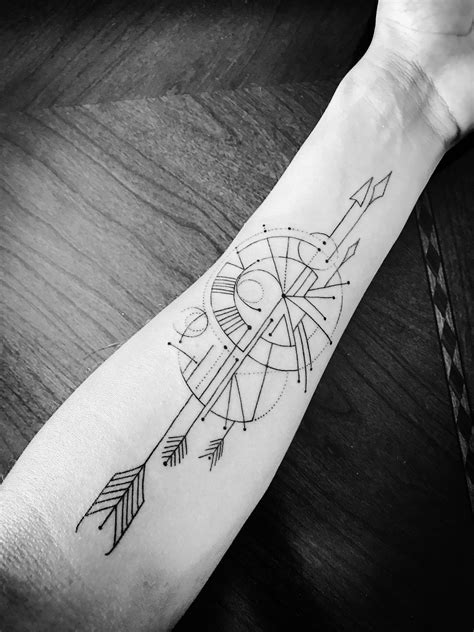geometric compass tattoo geometric and linear gesture toward compass by