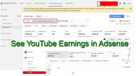 adsense to youtube how to check youtube earnings in adsense in 2017 with