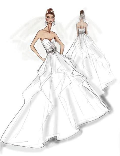 brautkleider zeichnungen wedding dress illustration fashion templates