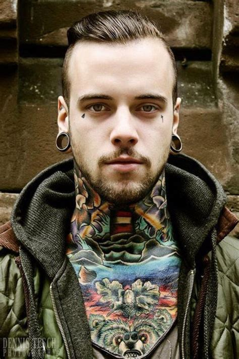 tattooed guy neck designs for mens neck ideas