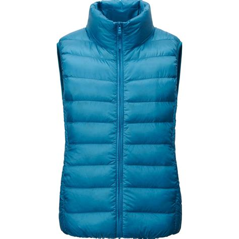 ultra light down vest uniqlo ultra light down vest in blue for men lyst