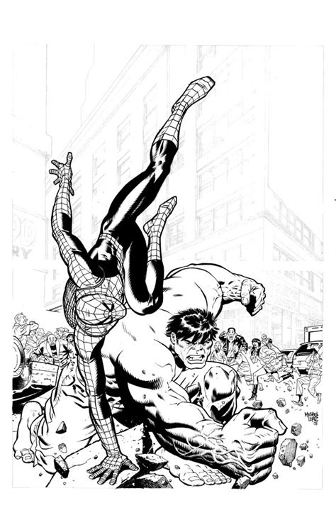 spider hulk coloring pages spiderman vs hulk by lopezmichael on deviantart