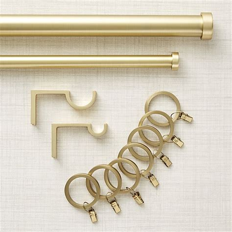crate and barrel curtain rods brushed brass curtain hardware crate and barrel