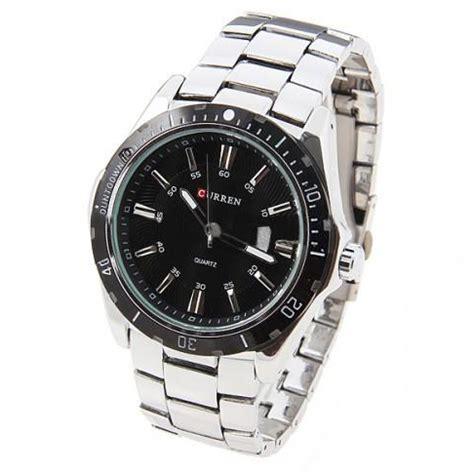 Jam Tangan Curren Sport curren jam tangan analog pria mk1 silver black