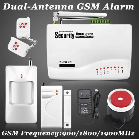 new wireless wired gsm voice home security burglar android