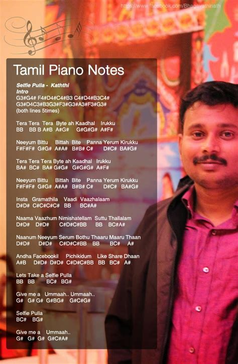 keyboard tutorial tamil songs tamil piano notes kaththi selfie pulla