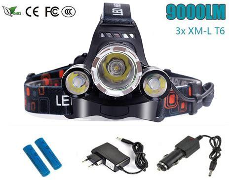 3 light l cree 9000 lumens headlight xm l 3xt6 led head light 4