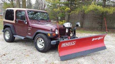 jeep snow plow jeep wrangler with snow plow