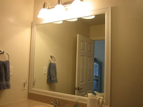 Frame Existing Bathroom Mirror Elizabeth Co Framing Bathroom Mirrors